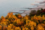 Widok z latarni morskiej w Niechorzu
