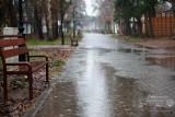 Deszczowa jesień w Pobierowie - ul. Jana z Kolna